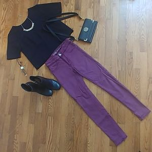 Wine-Colored Jeans